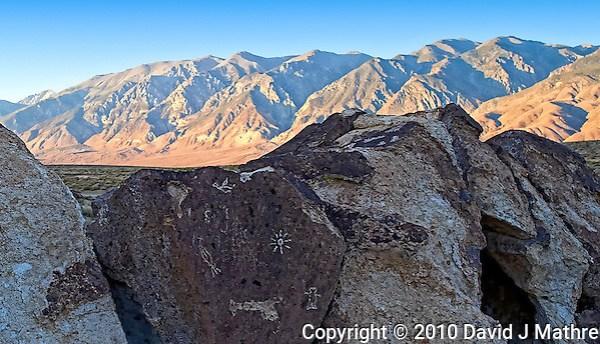 Red Canyon Petroglyphs. Image taken with a Nikon D3s and 24 mm f/1.4G lens (ISO 200, 24 mm, f/5.6, 1/160 sec). Raw image processed using Capture One Pro 6, Topaz Detail 2 (color jump), Nik Color Efex Pro, Nik Define 2, Photoshop CS5 (David J Mathre)