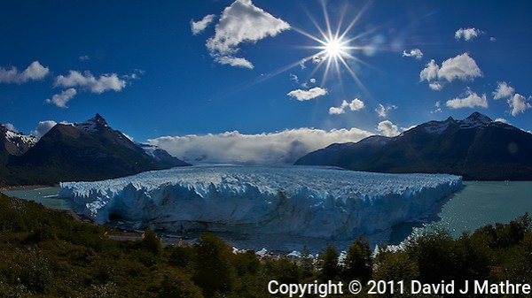 Perito Moreno Glacier, Los Glaciares National Park. Image taken with a Nikon D3s and 16 mm f/2.8 fisheye lens (ISO 200, f/22, 1/500 sec). (David J. Mathre)