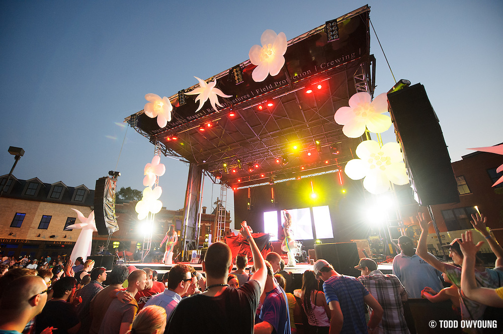 The main stage of the first annual Pulse Festival in St. Louis on June 9, 2012. (Todd Owyoung)