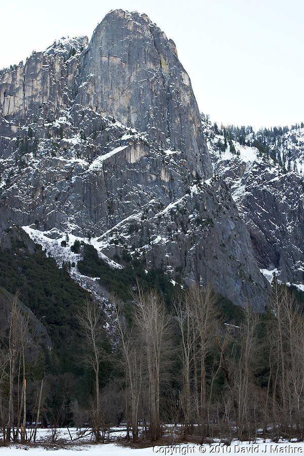 Yosemite Valley in Winter. Nikonians 2010 Yosemite Winter Workshop Day 1. Image taken with a Nikon D3s and 50 mm f/1.4G lens (ISO 200, f/8, 1/40 sec). Capture One Pro 6. Adobe Photoshop CS5, Focus Magic. (David J Mathre)