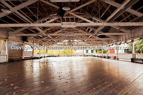 The wooden bumper-car rink at Glen Echo Park. (Copyright 2011 Jonathan Gewirtz jonathan@gewirtz.net)