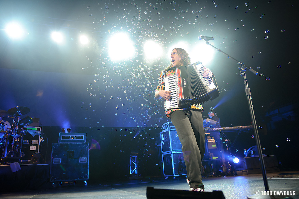 "Weird Al Yankovic performs on June 3, 2011at the Family Arena in St. Charles, Missouri in support of his album ""Alpocalypse."" © 2011 Todd Owyoung. (Todd Owyoung)"
