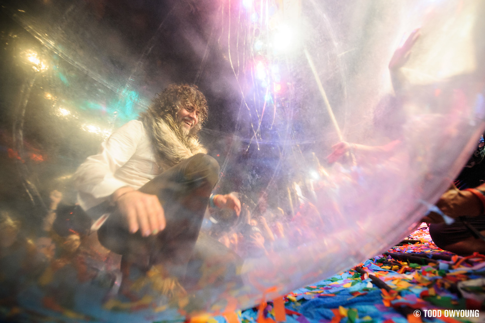 The Flaming Lips performing at LouFest in St. Louis on August 26, 2012 (TODD OWYOUNG)