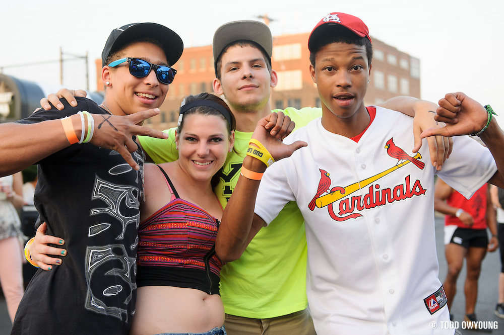 Fans at the first annual Pulse Festival in St. Louis on June 9, 2012. (Todd Owyoung)