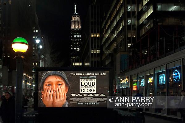 Manhattan, NY, USA - January 9, 2012: Movie poster