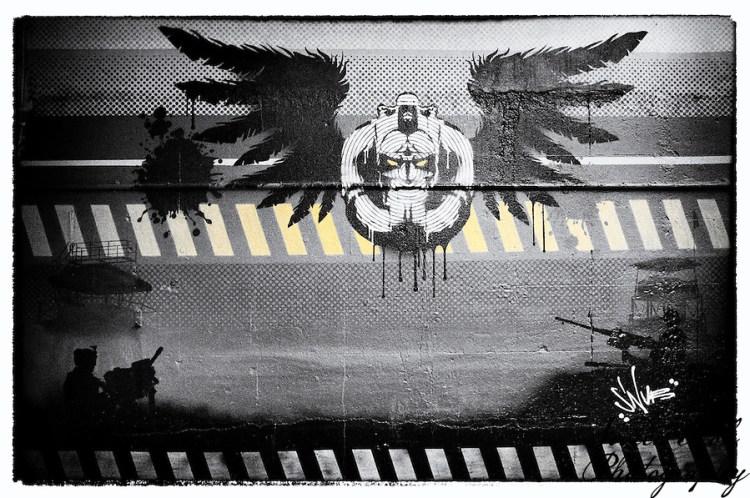 """Doombringer"" street art by Snub, Shoreditch, East London (Viveca Koh)"