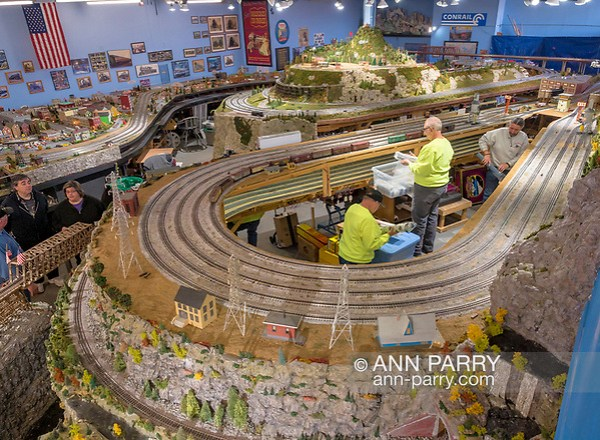 Farmingdale, New York, USA. January 21, 2018. TMB Model Train Club has Open House at its Headquarters. (Ann Parry/Ann Parry, ann-parry.com)