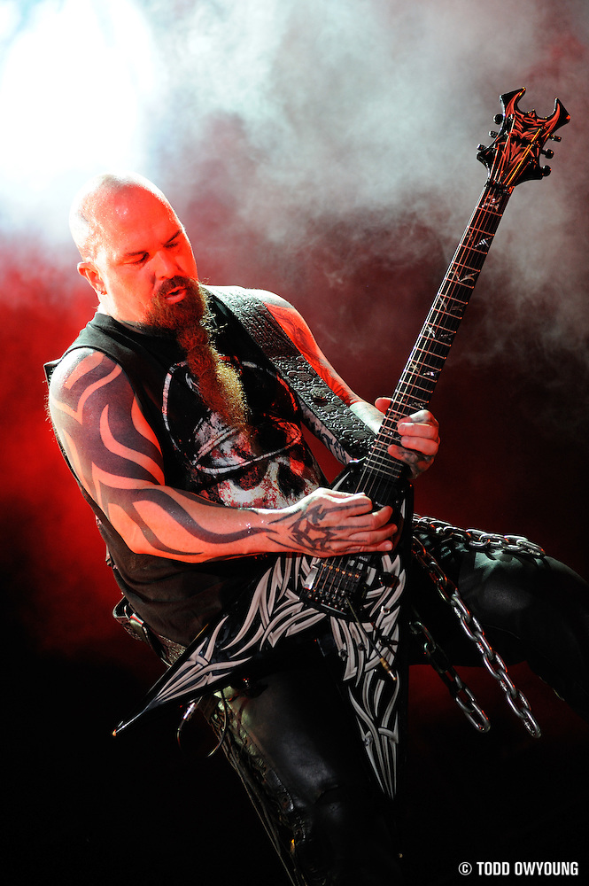 Slayer performing at Mayhem Fest on July 22, 2009 in St. Louis, MO. (TODD OWYOUNG)