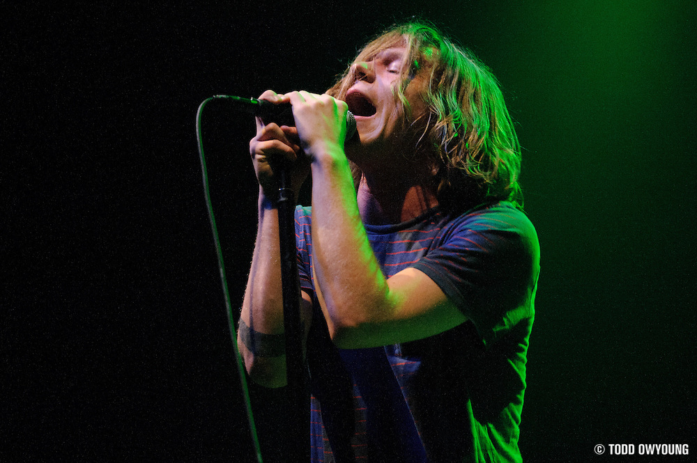 Photos of the band Cage The Elephant performing on February 24, 2011 at the Pageant in St. Louis. (© Todd Owyoung)