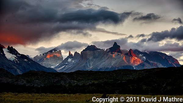 Early Morning Colors in Patagonia. Hosteria Lago Grey, Torres del Paine National Park in Chile. Image taken with a Nikon D3x camera and 70-300 mm VR lens (ISO 100, 75 mm, f/5.6, 1/10 sec). (David J Mathre)