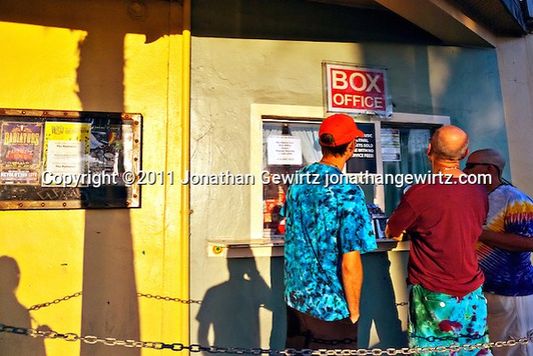 Concert goers at the box office before a performance of the Jerry Garcia band in Fort Lauderdale, Florida. (Jonathan Gewirtz)