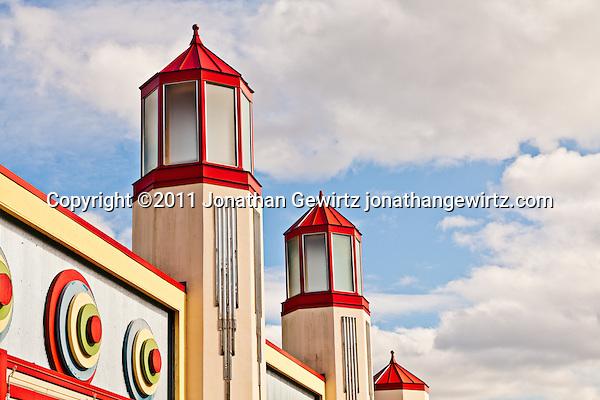 Deco arcade building architecture at Glen Echo Park, Maryland. (Copyright 2011 Jonathan Gewirtz jonathan@gewirtz.net)