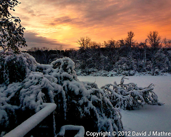 Sunrise ten days post Hurricane Sandy. Image taken with a Leica V-Lux 30 camera (ISO 160, 4.3 mm, f/3.3, 1/60 sec). (David J Mathre)