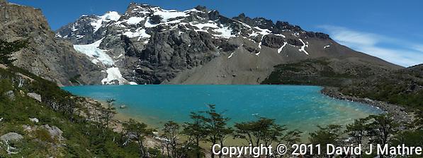 Turquoise Lake Panorama. Equitrecking and Hike Destination Estancia Helsingfors, Glacier National Park. (David J Mathre)