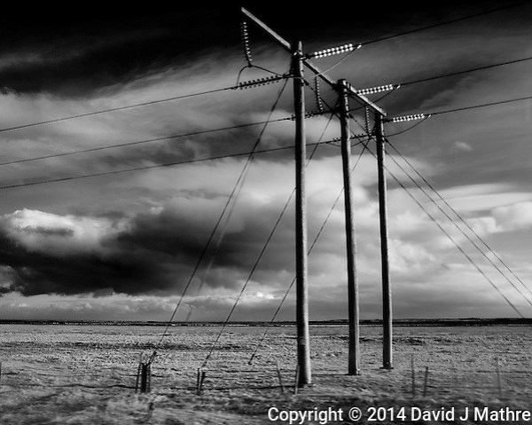 More Powerlines from a Bus on a Winter Day in Iceland. Image taken with a Leica X2 camera (ISO 100, 24 mm, f/7, 1/250 sec). Raw image processed with Capture One Pro and Focus Magic (to remove some of the motion blur). (David J Mathre)