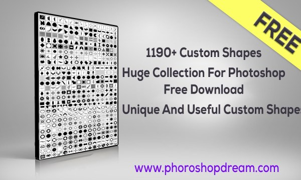 1190+ Custom Shapes Huge Collection For Photoshop Free Download