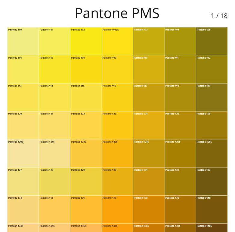 Codes Des Couleurs Pantone Pms Photoshoplus