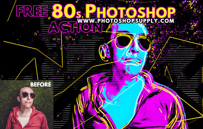 Free 80s Retro Poster Generator For Photoshop