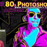 80s Retro Poster Photoshop Free Action