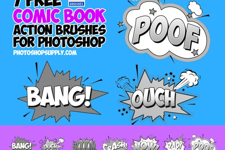 Comic Book Action Brushes Free