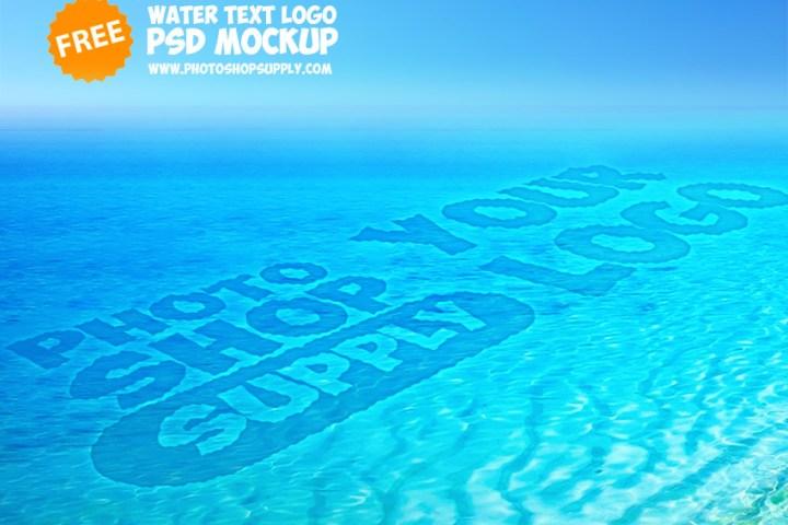 Ripple Water Text Mockup Freebie