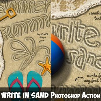Sand Writing Photoshop Action
