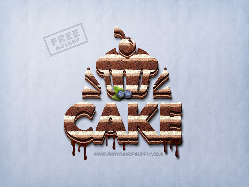 Sweet Food Text Effect Photoshop PSD