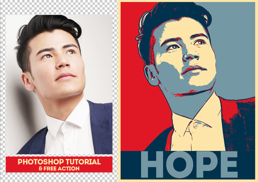 FREE) Posterize Photoshop Action - Photoshop Supply