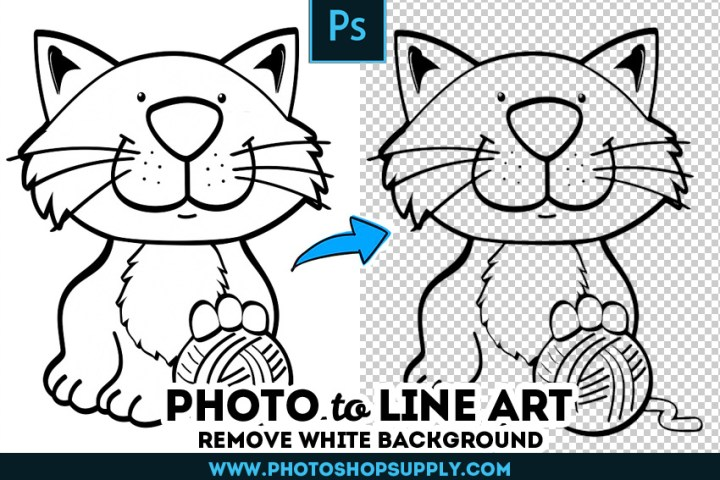 Line Art Remove White Background Photoshop Action