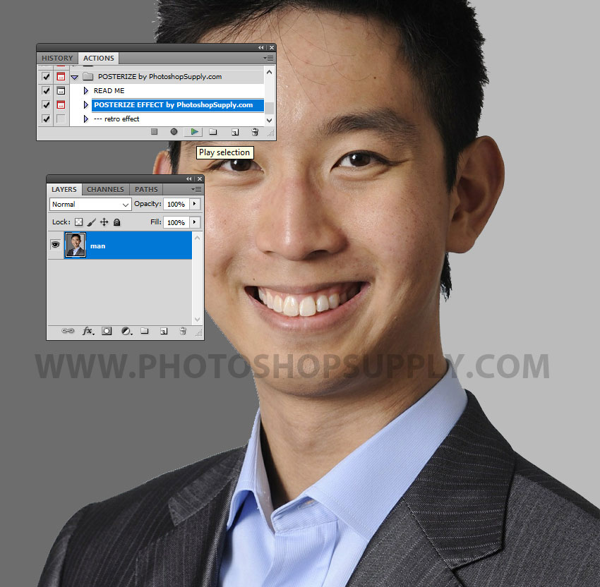 Play Action In Photoshop