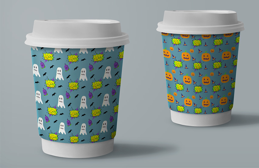 Halloween Paper Cup Mockup
