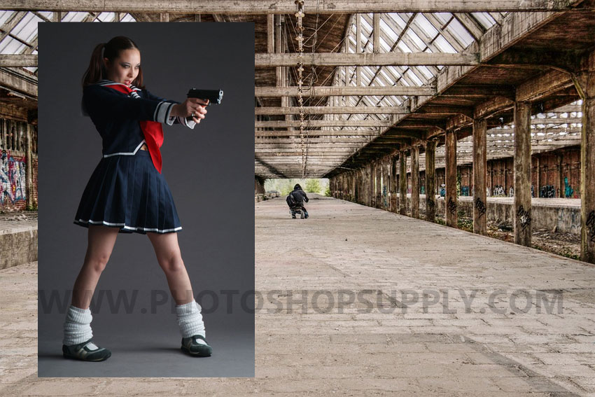 girl with gun image