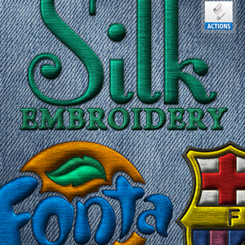 Silk Embroidery Photoshop Action