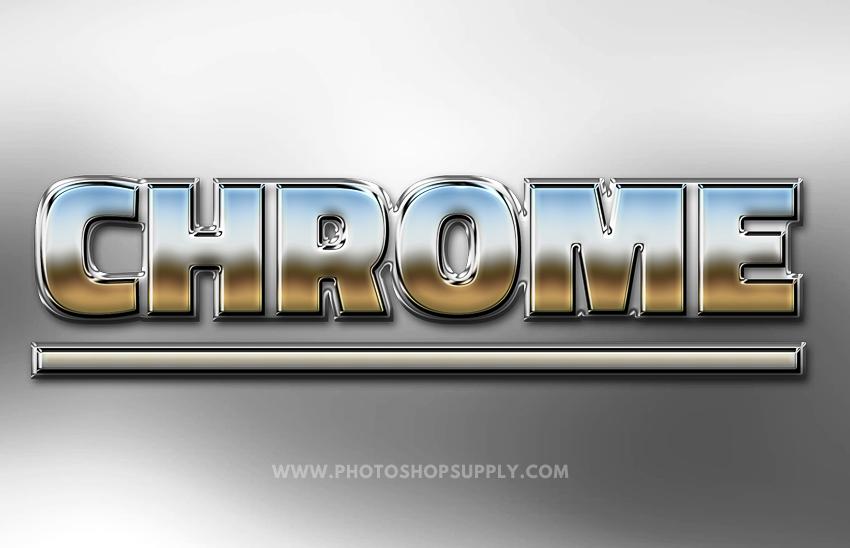Chrome Style Photoshop