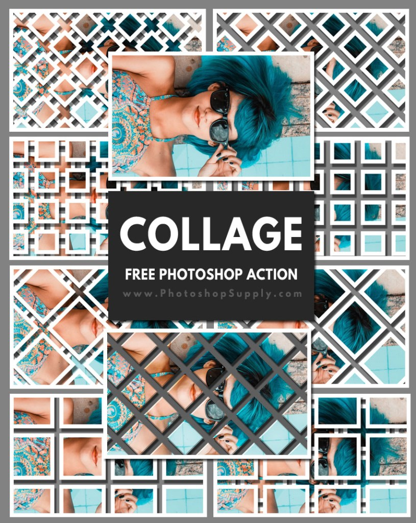 Collage Photoshop Action Free - Photoshop Supply