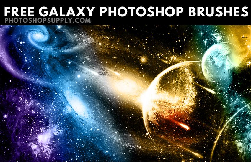 FREE) Galaxy Photoshop Brushes - Photoshop Supply