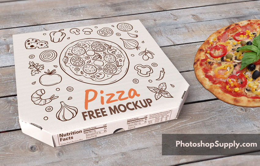 Download (FREE) Pizza Box Mockup - Photoshop Supply