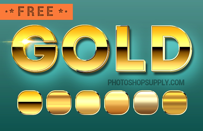 Gold Style Photoshop Free Download Photoshop Supply