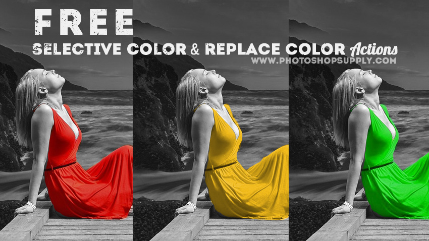 FREE) Selective Color Photoshop Action ⚡️ Photoshop Supply