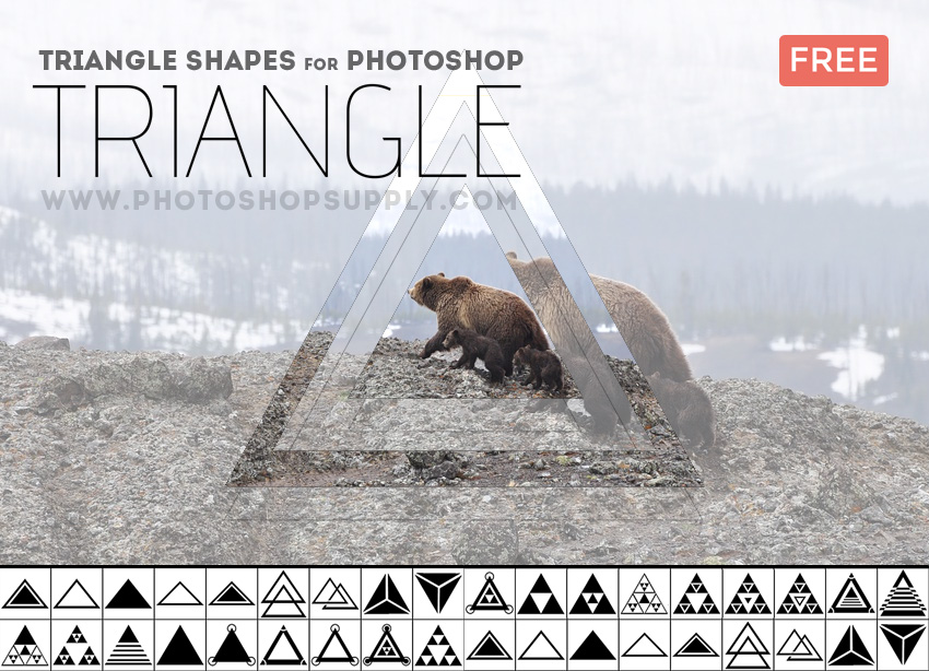 Triangle Geometric Shapes Photoshop