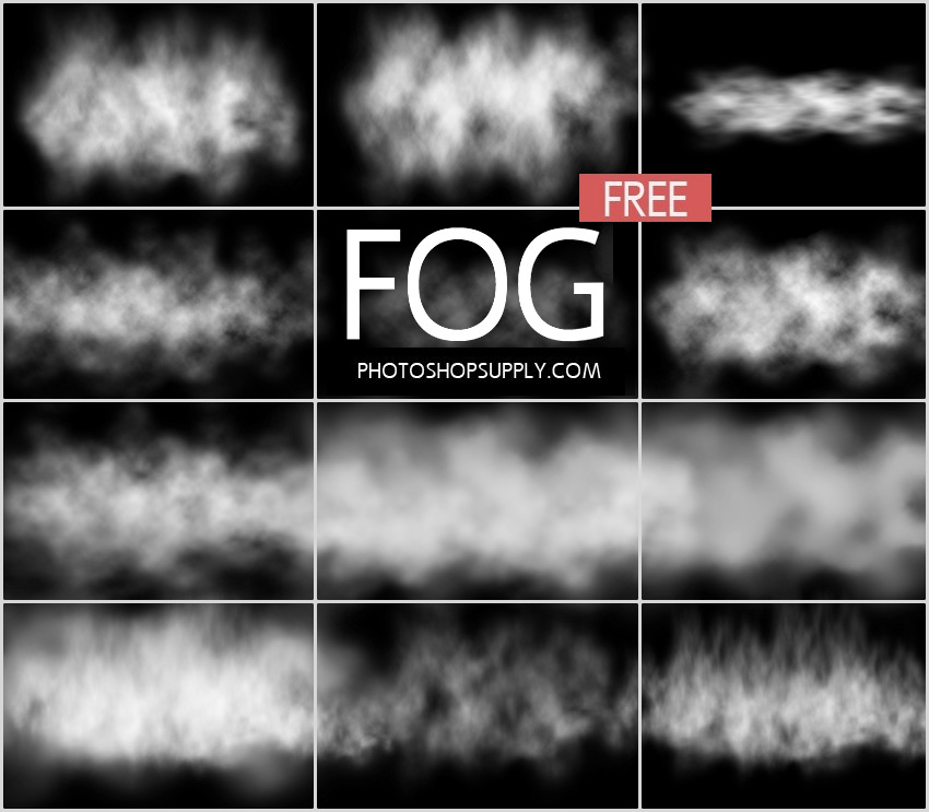 FREE) Fog Photoshop Brushes - Photoshop Supply