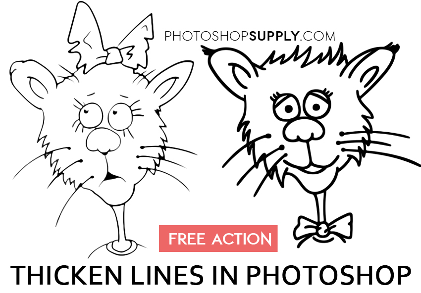 How to Thicken Lines in Photoshop