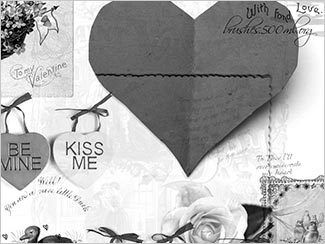 My Vintage Valentine - Free Brush Sets To Make A Valentine's Day Card In Photoshop