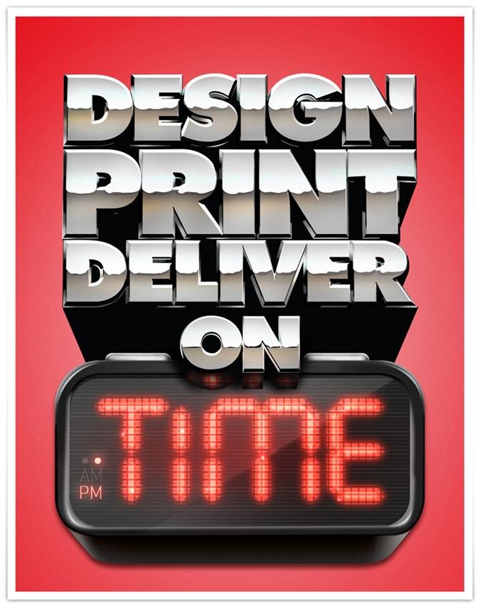Design Print Deliver On Time A3 Poster V1