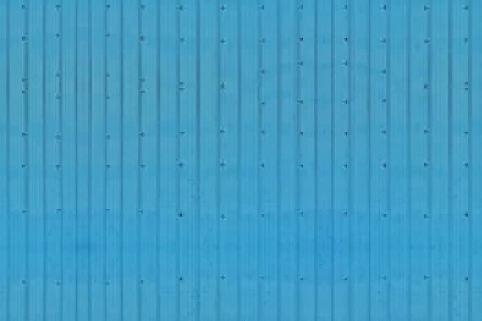 Blue Corrugated Wide Planks
