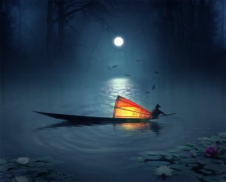 Create a Photo Manipulation of a Fisherman in a Lake
