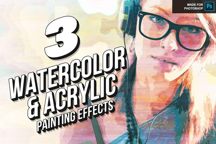 Free Download: 3 Awesome Actions to Create Watercolor and