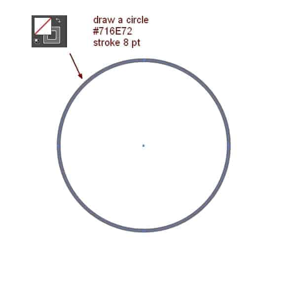 how to draw circle without fill in photoshop