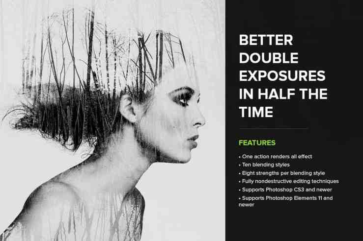 Better double exposures in half the time