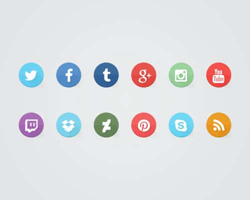Learn How to Create Some Flat Social Media Icons Using the Free Font